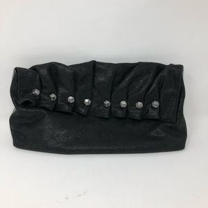 Women's 7 for all Mankind studded black clutch